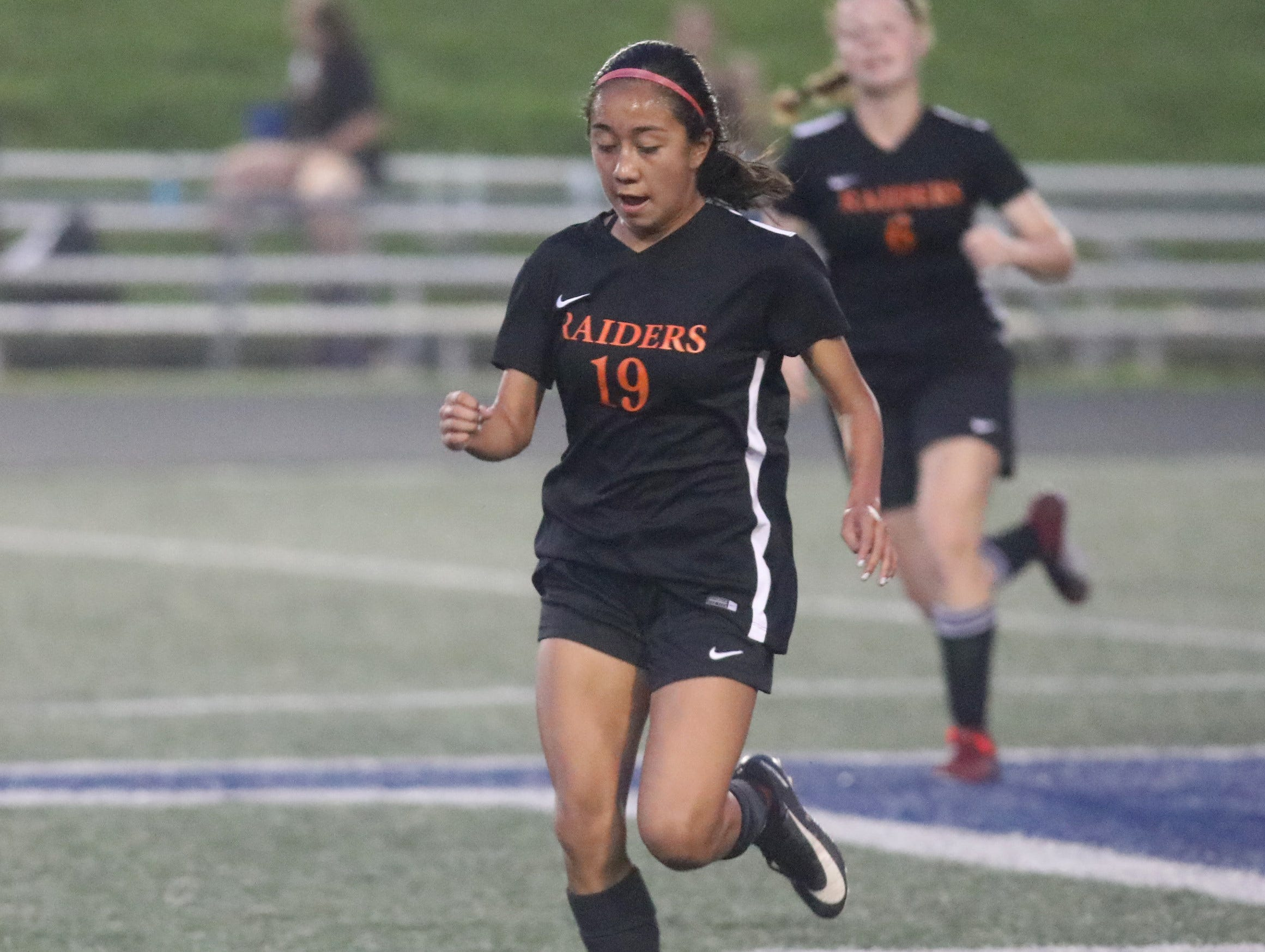 Ryle's Yasmin Garcia during the Raiders  game against Turpin at Soccerama, Saturday, Aug. 11,2018.