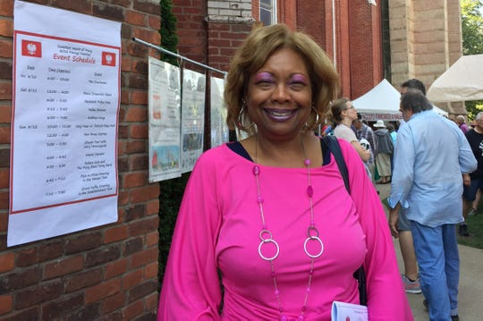 Tracey Wyatt of Detroit said Sweetest Heart of Mary Catholic Church is one of the area's most beautiful churches. Wyatt attended Mass on Sunday, August 12, 2018, and was looking forward to perusing goods at the festival's resale shop.