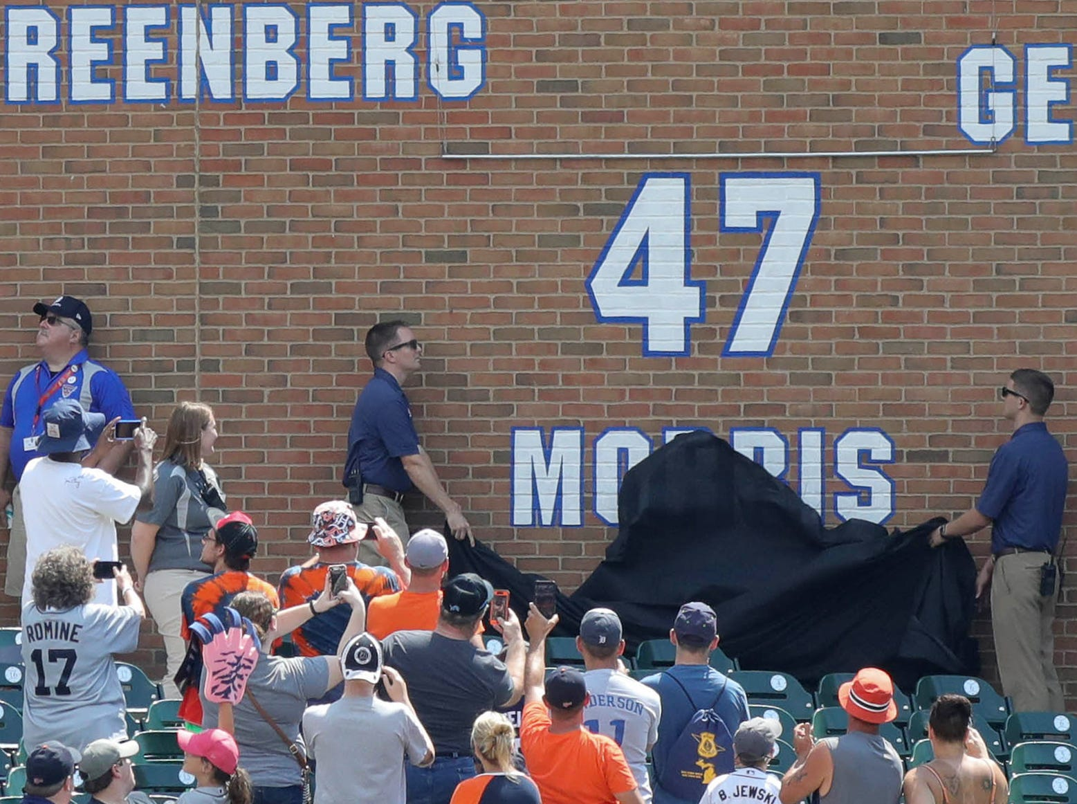 Detroit Tigers Hall of Fame pitcher Jack Morris had his number retired during a ceremony before the start of the Tigers game against Minnesota on Sunday, August 12, 2018, at Comerica Park in Detroit.