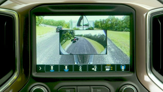 rear vision camera with dynamic guidelines