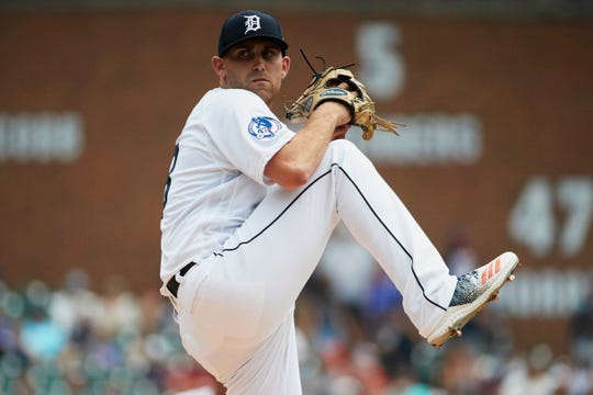 Aug 12, 2018; Detroit, MI, USA; Detroit Tigers starting pitcher Matthew Boyd (48) pitches in the first inning against the Minnesota Twins at Comerica Park. Mandatory Credit: Rick Osentoski-USA TODAY Sports