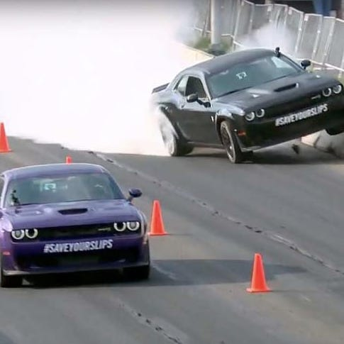 'Fast N' Loud' star Rawlings crashes Hellcat at Roadkill Nights