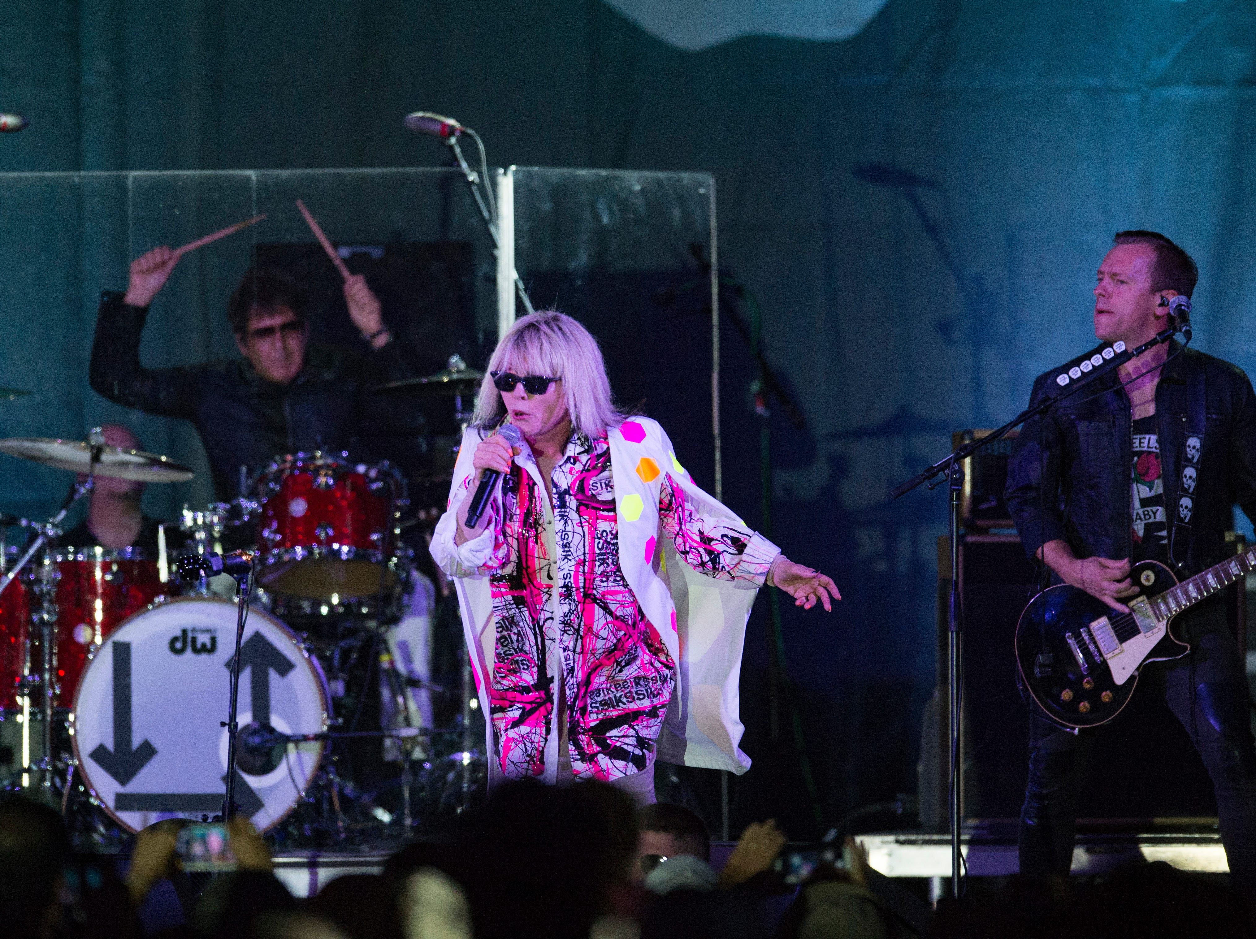 Blondie performs to a packed crowd on the Mountain Avenue Stage during Bohemian Nights at NewWestFest on Saturday, August 11, 2018.