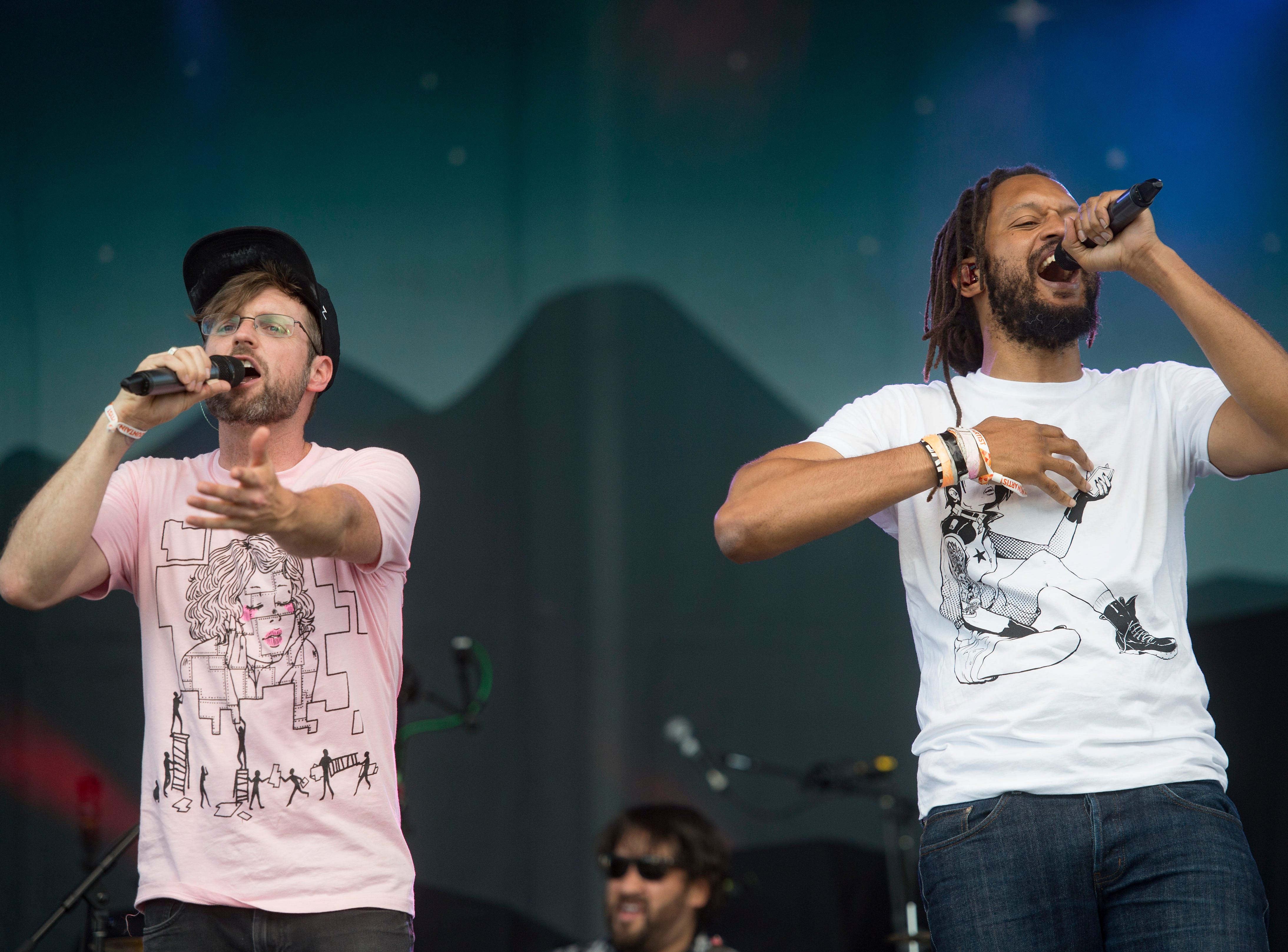 Flobots performs on the Mountain Avenue Stage during Bohemian Nights at NewWestFest in Old Town on Saturday, August 11, 2018.