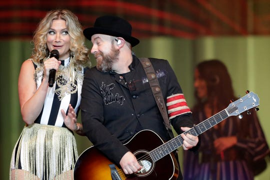 Sugarland performs at the Resch Center on Saturday, August 11, 2018 in Ashwaubenon, Wis. 