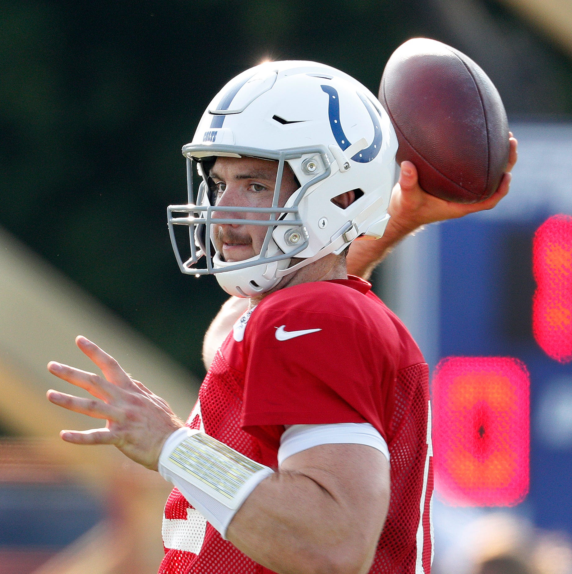 Andrew Luck was 'exhausted' after Colts game, but 'had fun.' And, about that mustache.
