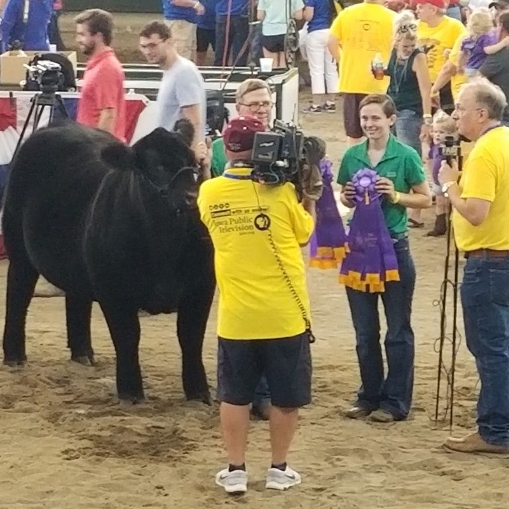 Sinclair shows champion steer at Gov's Steer Show