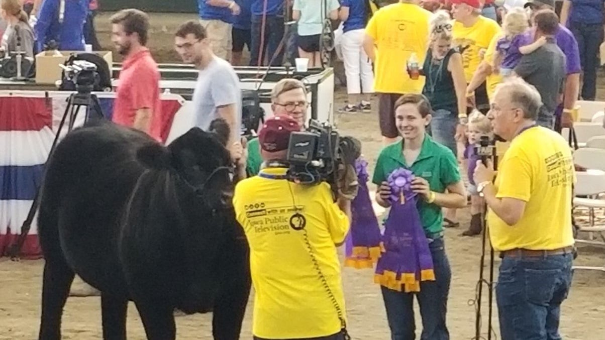 An interview with IPBN for Emma Sinclair after showing the grand champion steer at the Iowa Governor's Charity Steer Show Saturday, Aug. 11.