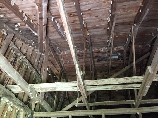 The ceiling of the barn where Emmett Till was killed remains much as it was in 1955.