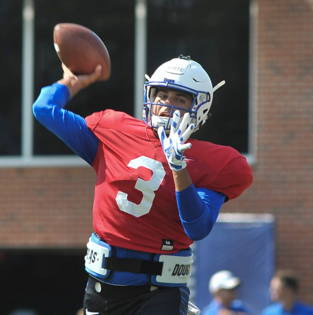 Memphis names Brady White starting quarterback; his competition, David Moore, leaves team