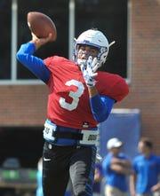 University of Memphis Brady White during practice for the 2018-19 season