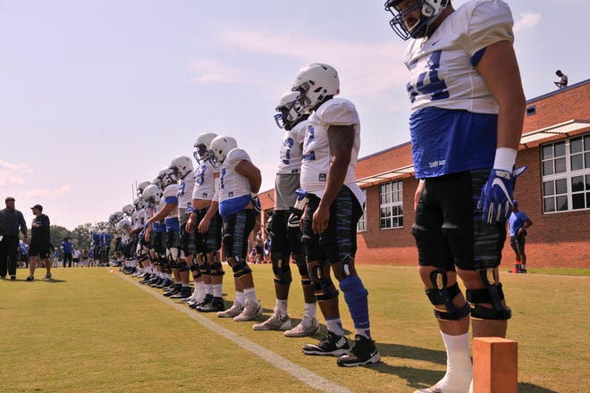 University of Memphis players during practice for the 2018-19 season on Saturday, Aug. 11, 2018.