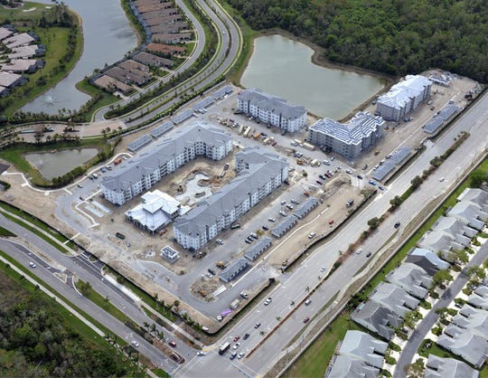 Inspira is a luxury apartment community nearing completion on the corner of Rattlesnake Hammock Road and Grand Lely Drive in East Naples.