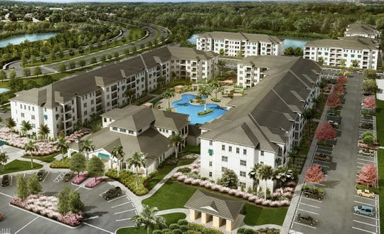 Allura, a luxury apartment complex proposed for the southeast corner of Veterans Memorial Boulevard and Livingston Road in North Naples, will be similar to this rendering of Lely Resort's Inspira at Rattlesnake Hammock Road and Grand Lely Drive in East Naples.