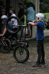 Bike enthusiasts of all ages were at the 21st Street Bike Park reopening on Saturday.
