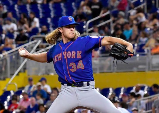 Mlb New York Mets At Miami Marlins