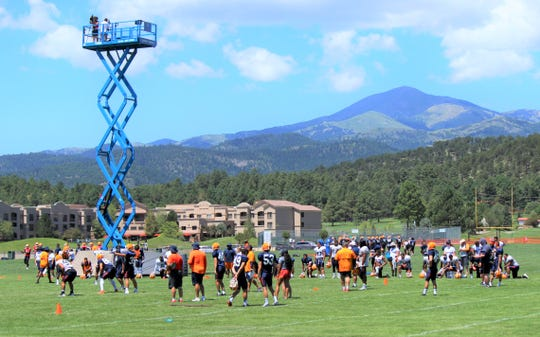 UTEP practice is filmed for later review