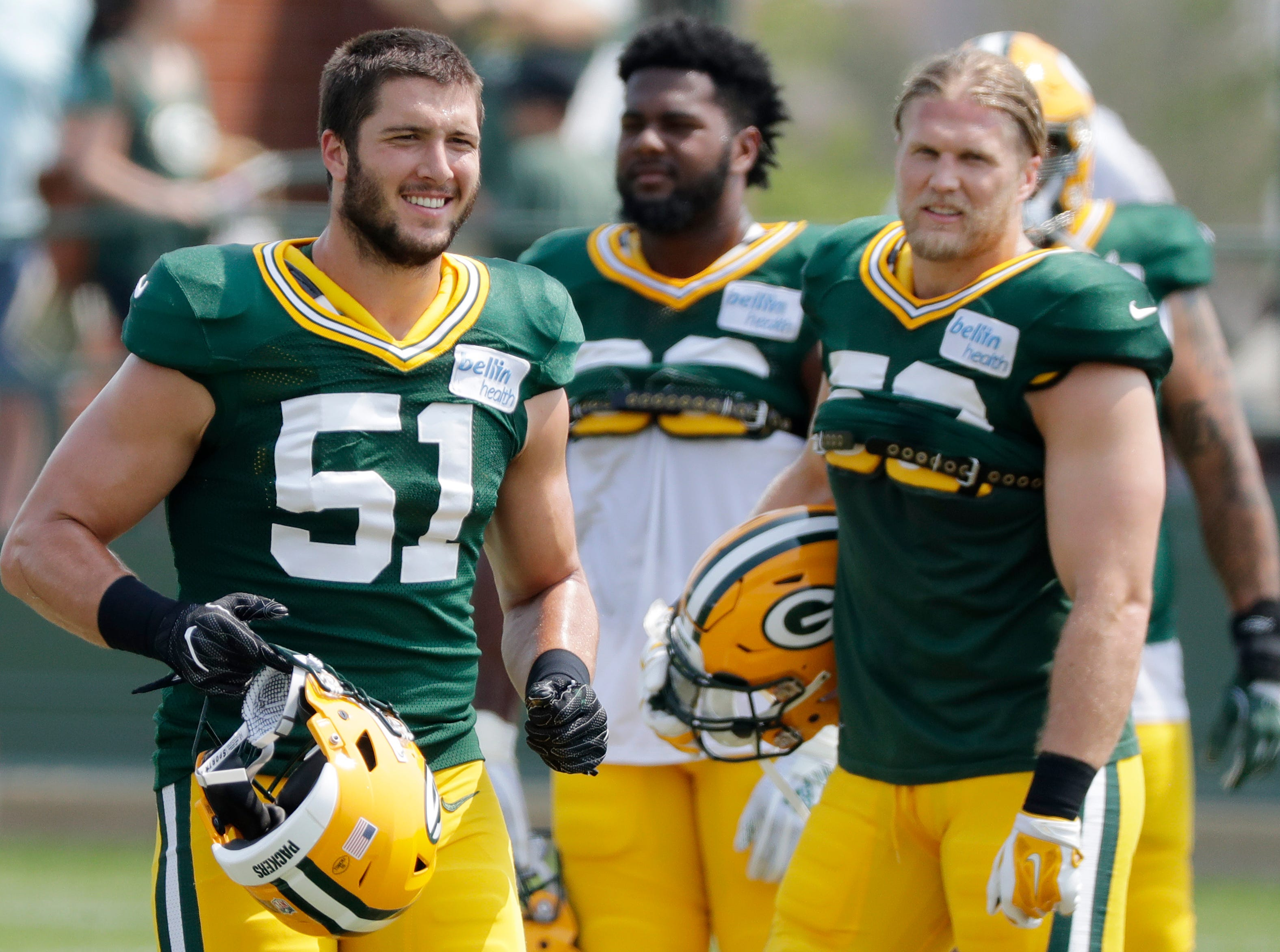 Green Bay Packers linebacker Kyler Fackrell (51) during training camp practice at Ray Nitschke Field on Sunday, August 12, 2018 in Ashwaubenon, Wis. 