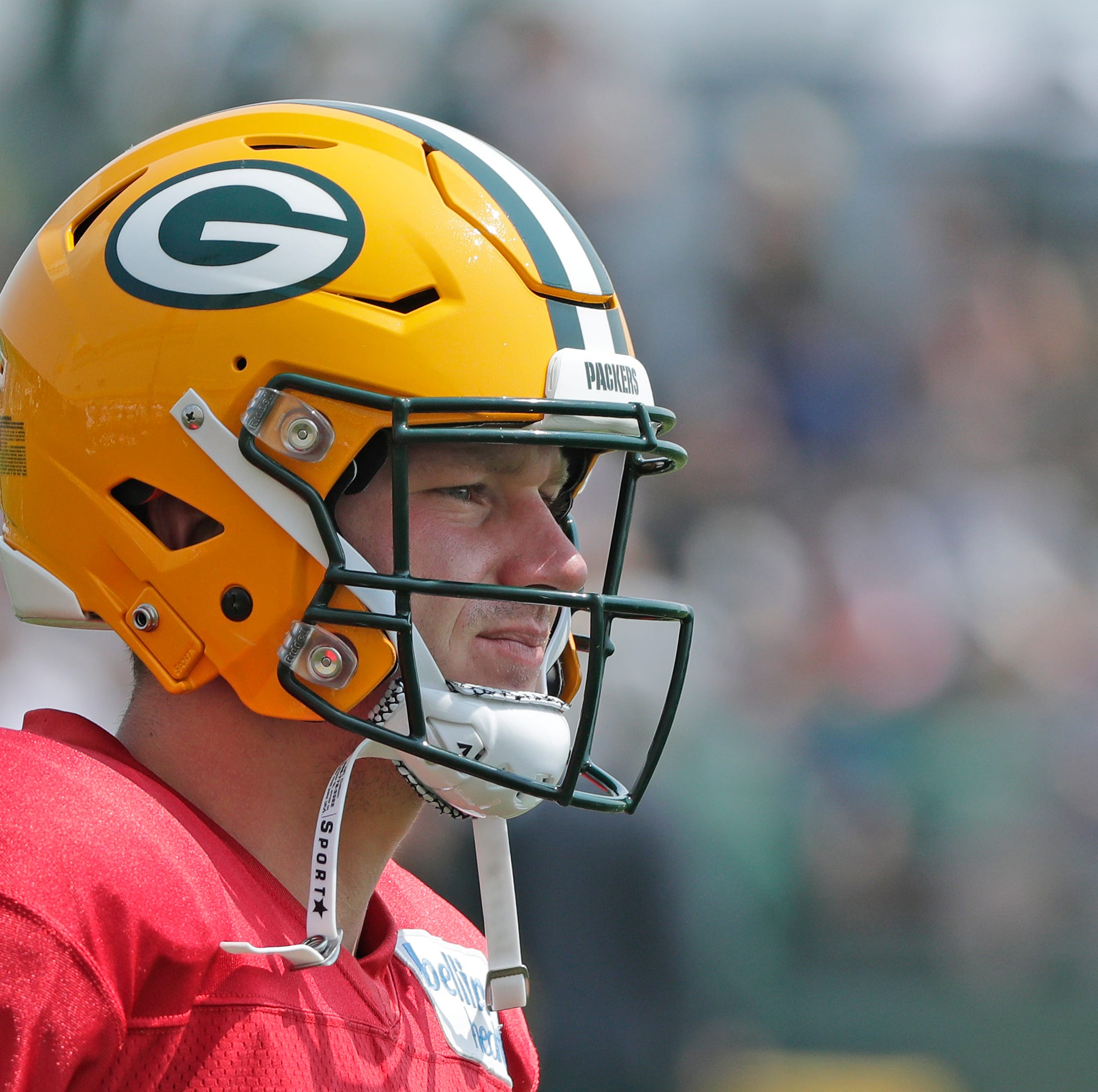 Green Bay Packers quarterback Tim Boyle (8) during training camp practice at Ray Nitschke Field on Sunday, August 12, 2018 in Ashwaubenon, Wis. Adam Wesley/USA TODAY NETWORK-Wisconsin