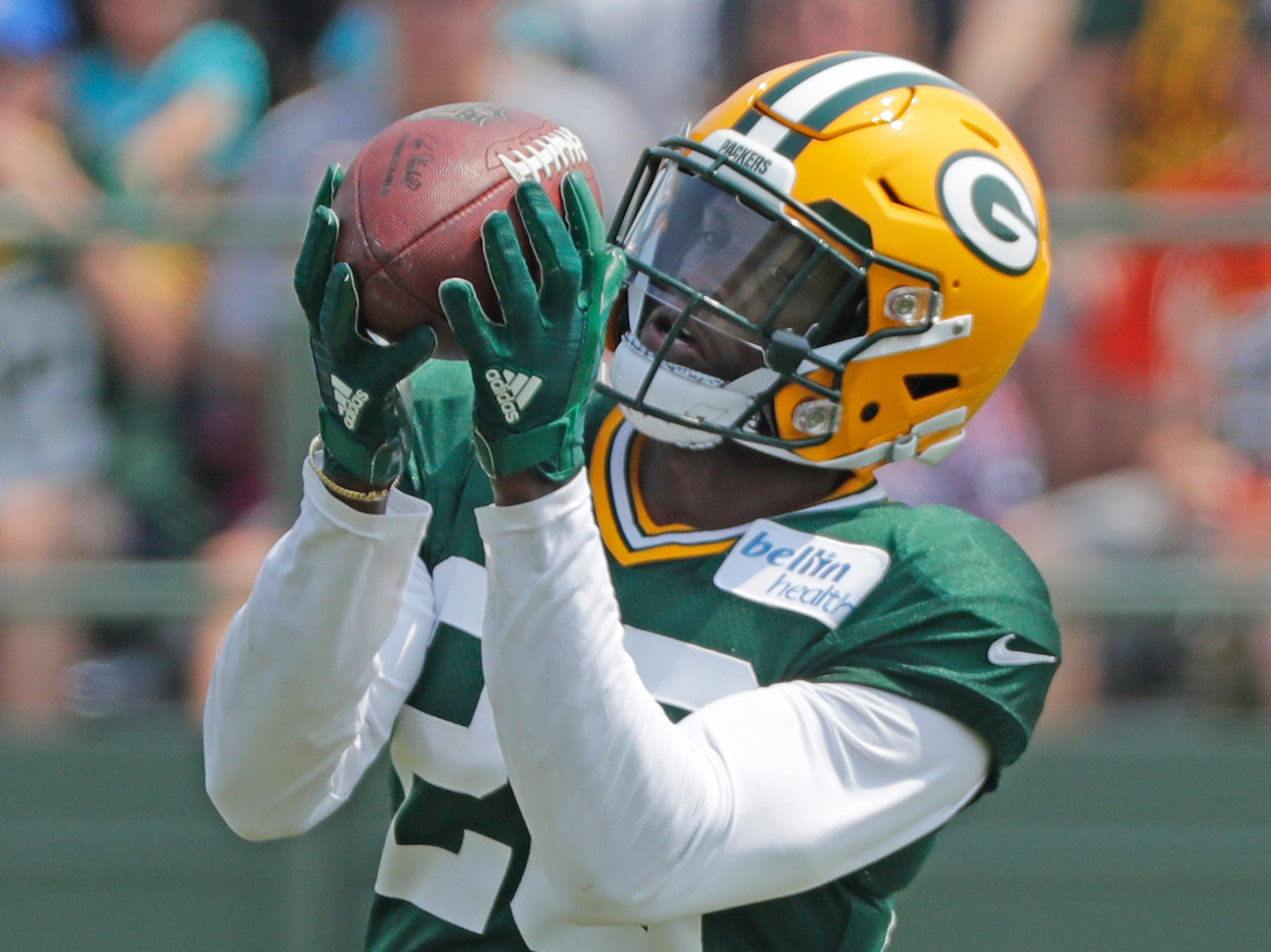 Green Bay Packers cornerback Herb Waters (26) during training camp practice at Ray Nitschke Field on Sunday, August 12, 2018 in Ashwaubenon, Wis. 