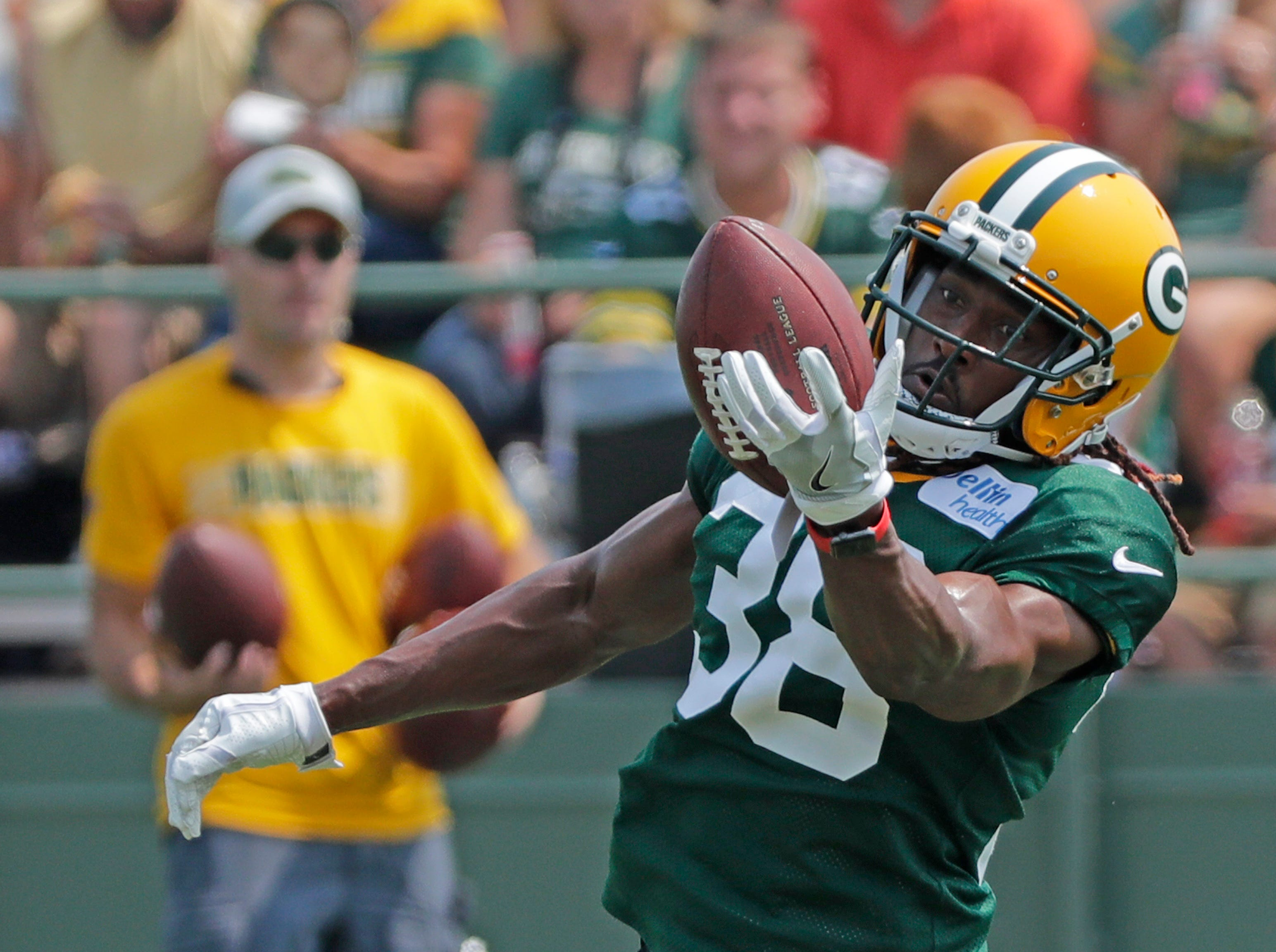 Green Bay Packers defensive back Tramon Williams (38) during training camp practice at Ray Nitschke Field on Sunday, August 12, 2018 in Ashwaubenon, Wis. 