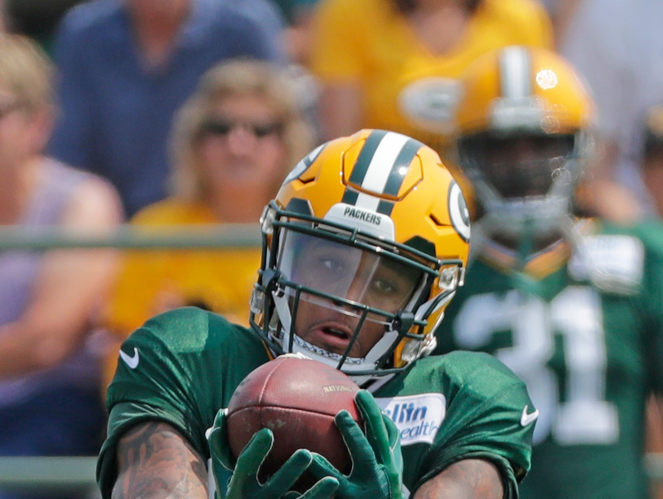 Green Bay Packers cornerback Jaire Alexander (23) during training camp practice at Ray Nitschke Field on Sunday, August 12, 2018 in Ashwaubenon, Wis. 