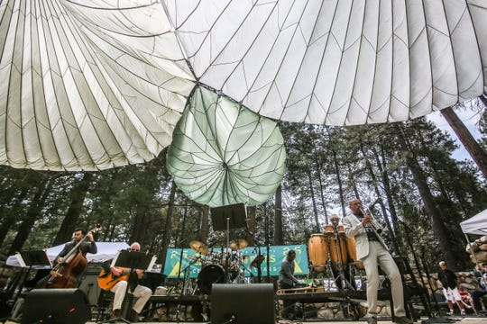 Spectators at the Main Stage during the 25th Jazz in the Pines in Idyllwild on Saturday, August 11, 2018.