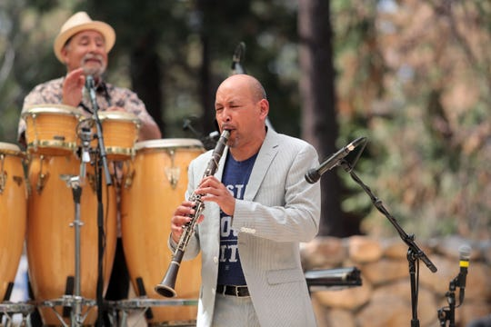 Idyllwild Arts Academy alumnus Evan Christopher plays with his group, the Evan Christopher Clarinet Road, during the 25th Jazz in the Pines in Idyllwild on Saturday, Aug. 11, 2018.