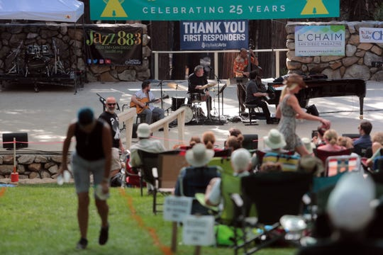 The Graham Dechter Quartet perform during the 25th Jazz in the Pines in Idyllwild on Saturday, August 11, 2018.