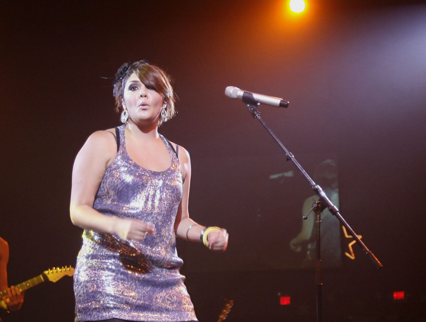 Yuridia performs at the Celebrity Theatre on Sept. 5, 2009. It's the former Mesa High School student's first performance in the Valley as a headliner.