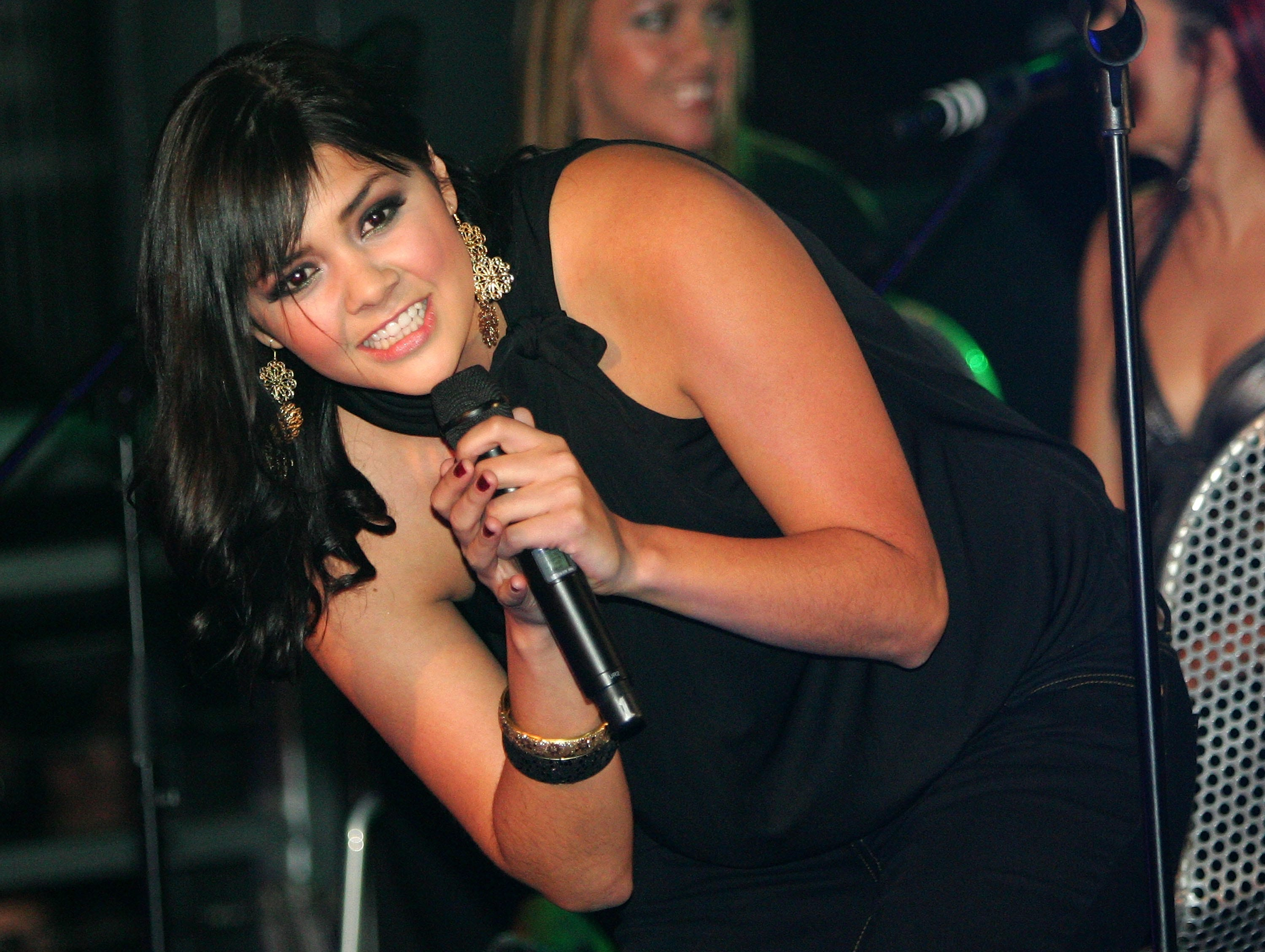 Yuridia performs at the Sony BMG pre-Latin Grammy Awards party at Studio 54 inside the MGM Grand Hotel/Casino November 8, 2007, in Las Vegas.