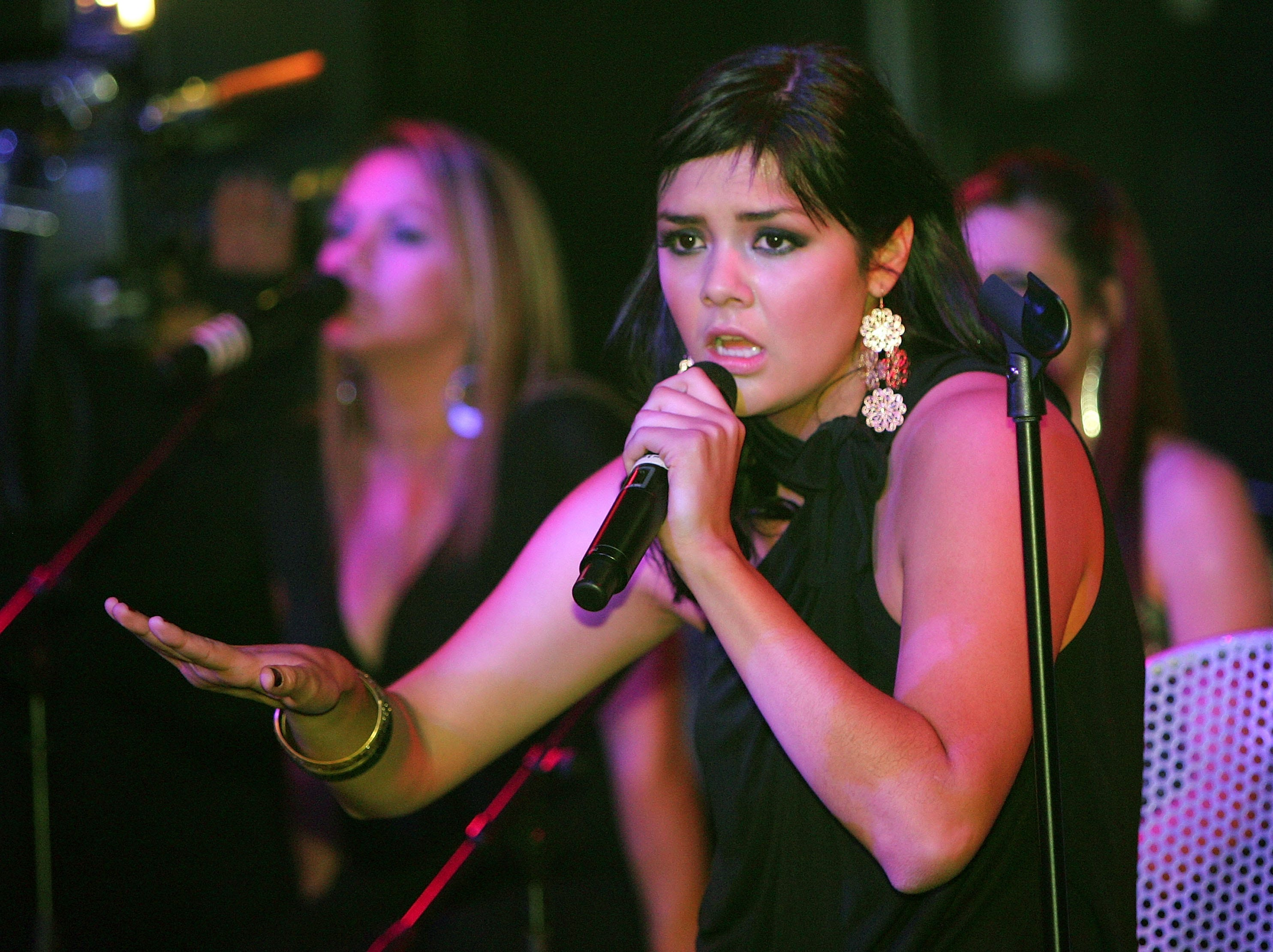 Yuridia performs at the Sony BMG pre-Latin Grammy Awards party on Nov. 8, 2007, in Las Vegas.