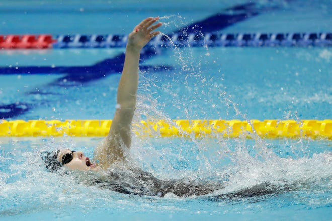 Taylor Ruck of Scottsdale was second in the 200-meter backstroke Sunday to finish with a Canadian record five medals at the Pan Pacific Swimming Championships in Tokyo.