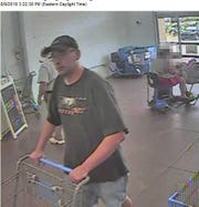 After allegedly taking over $900 worth of robotic vacuums from a Hanover-area Walmart on Aug. 9, police believe this man returned the next day and took over $550 dollars worth of merchandise.
