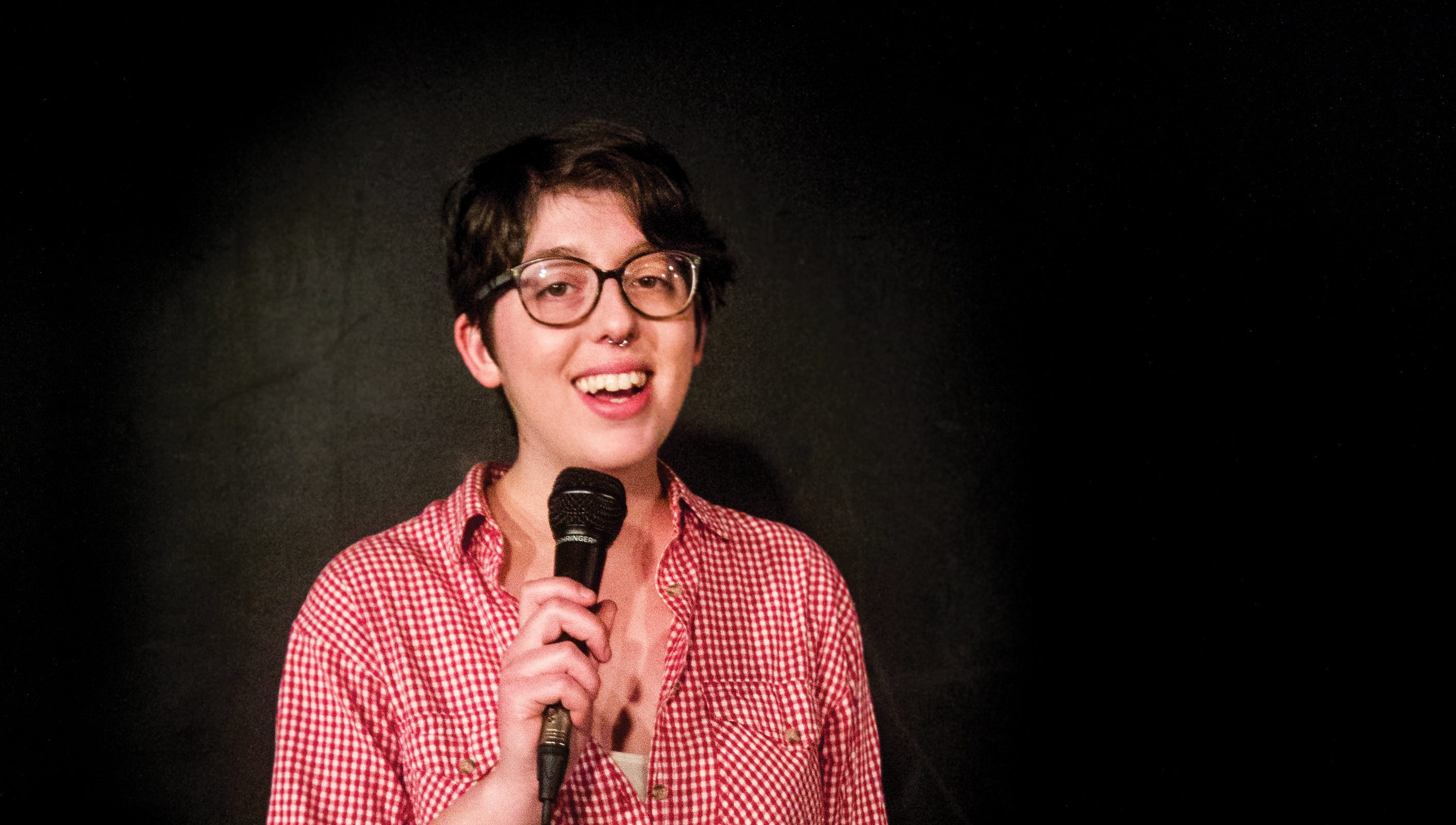 Emma Jonas, 25, has done stand-up at Capitol City Theater for three years.