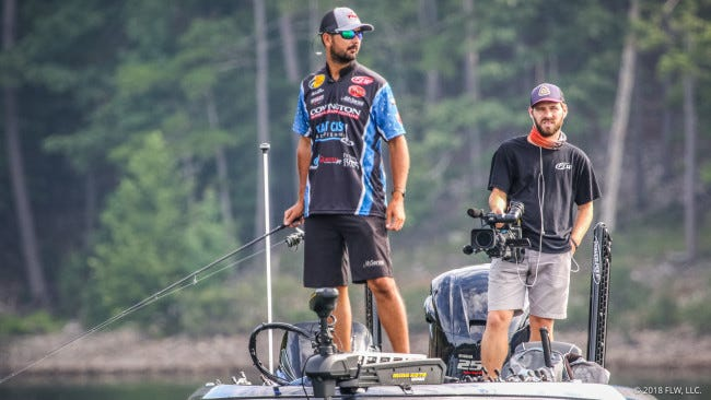Bossier City angler Nick LeBrun competes on Sunday in the Forrest Wood Cup