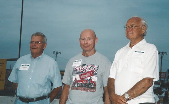 Clarence Rubin (right), along with sons Greg and Steve (not pictured), purchased Huset's Speedway from the Sioux Falls Stock Car Association in 1988. Rubin was inducted into the Huset's Speedway Hall of Fame in 2008.