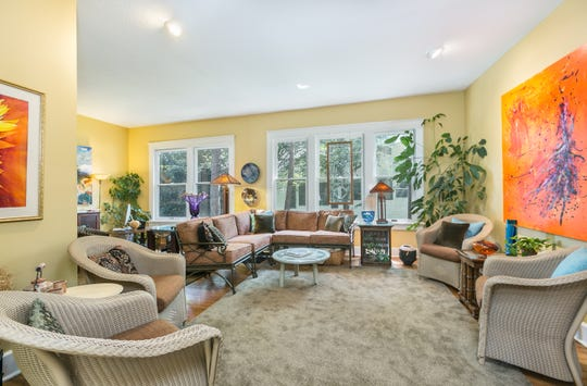 A light-filled family room offers ample space to entertain. Tom and Nancy Dornan say this is typically where their kids and grandkids congregate when they visit.