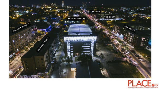Collegetown, as it will look at night.