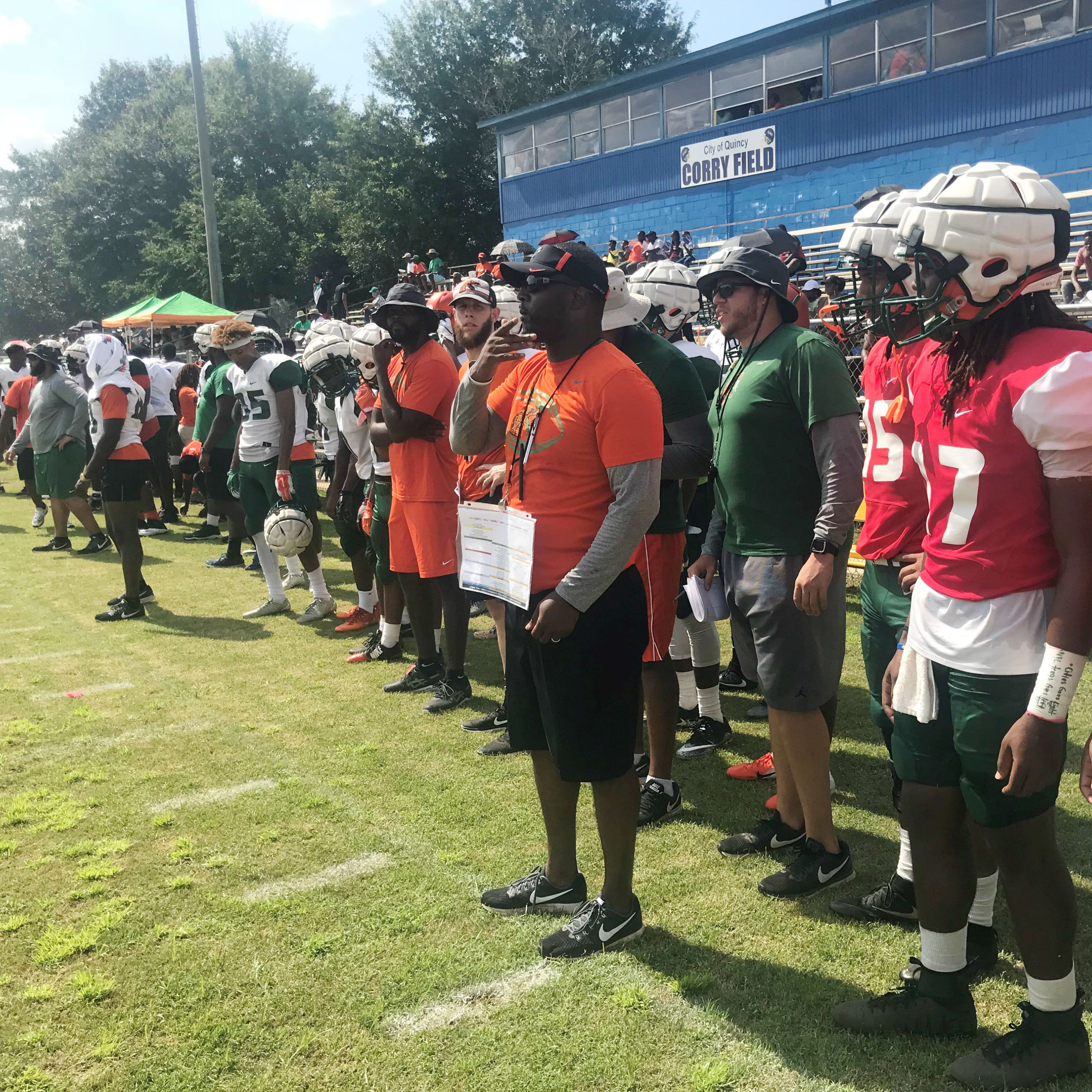 Simmons, Jackson celebrate homecoming with scrimmage in Quincy