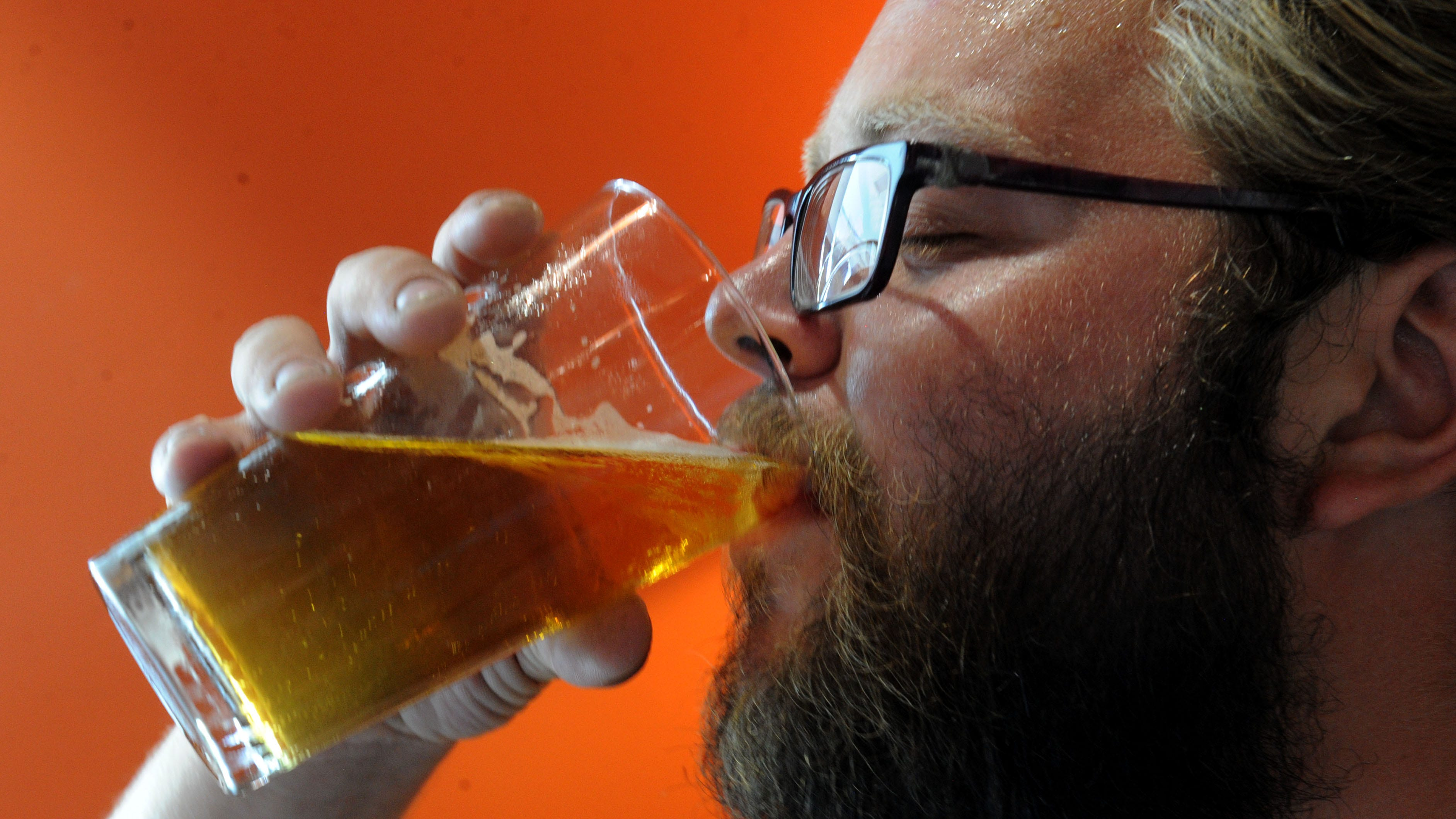 Sean Schottel enjoys the C-Hag beer at Red Tandem Brewery in Oxnard. Red Tandem is one of the vendors that will be serving beer at the Wine, Craft Beer and Art Trail hosted by Oxnard Lions Club at Oxnard Heritage Square on Aug 18.