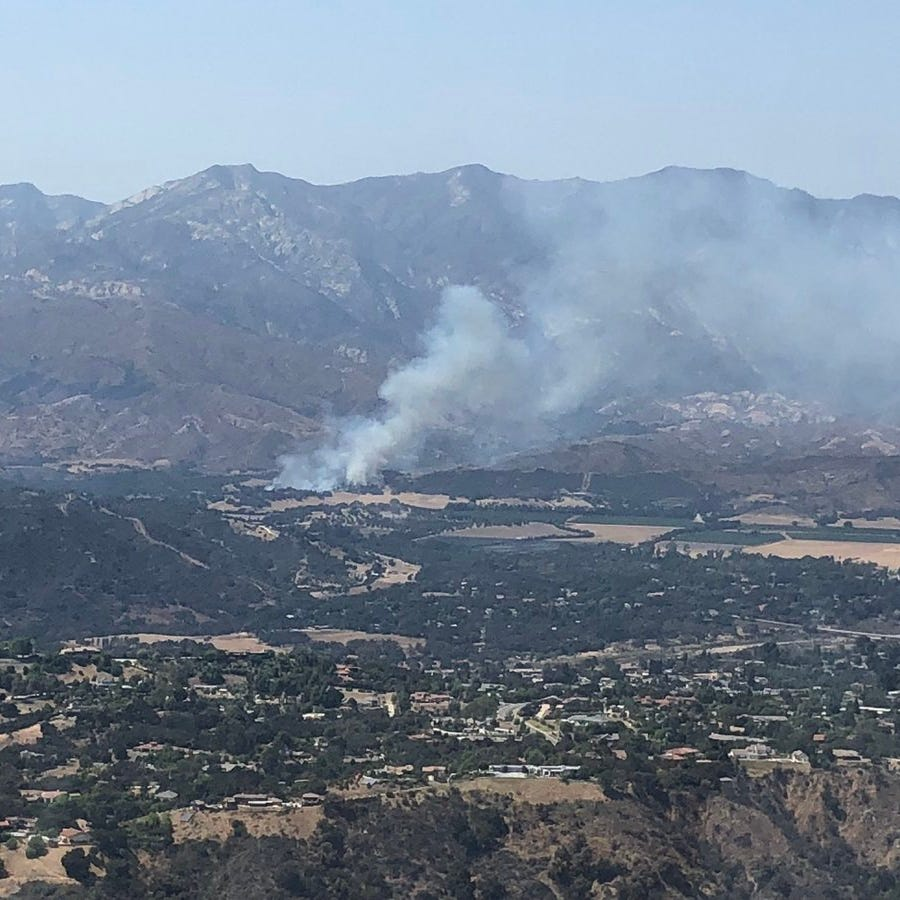 Air tankers, helicopters requested for fire north of Lake Casitas