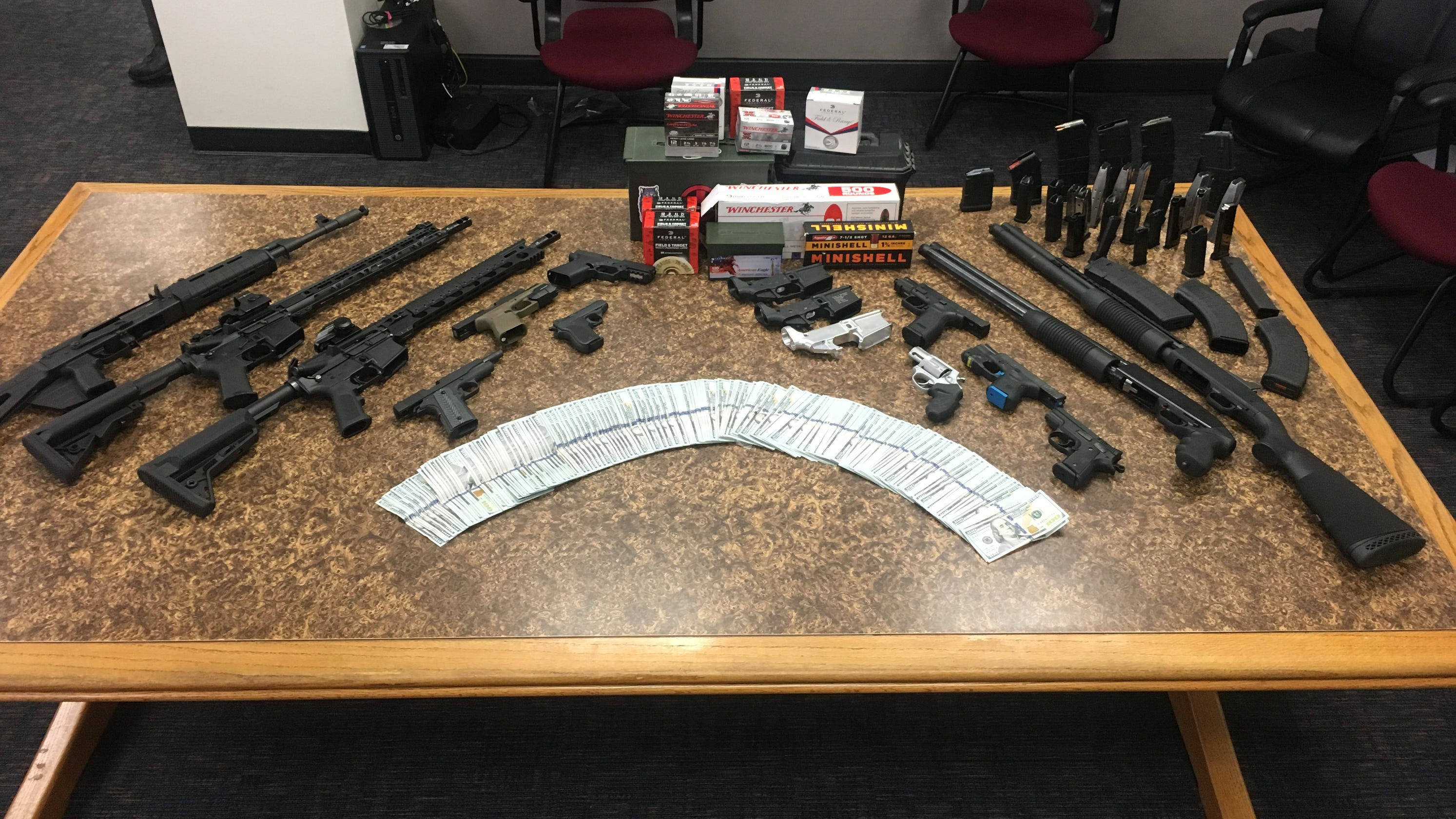 Guns, drugs and cash seized from Thousand Oaks home after