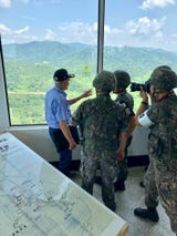Peter Chacho, a veteran of the Korean War living in Smyrna, spent his 84th birthday on a South Korean military outpost overlooking the DMZ. He'd come to see the site of the battle which defined the war for him, a hill once called Outpost Harry.