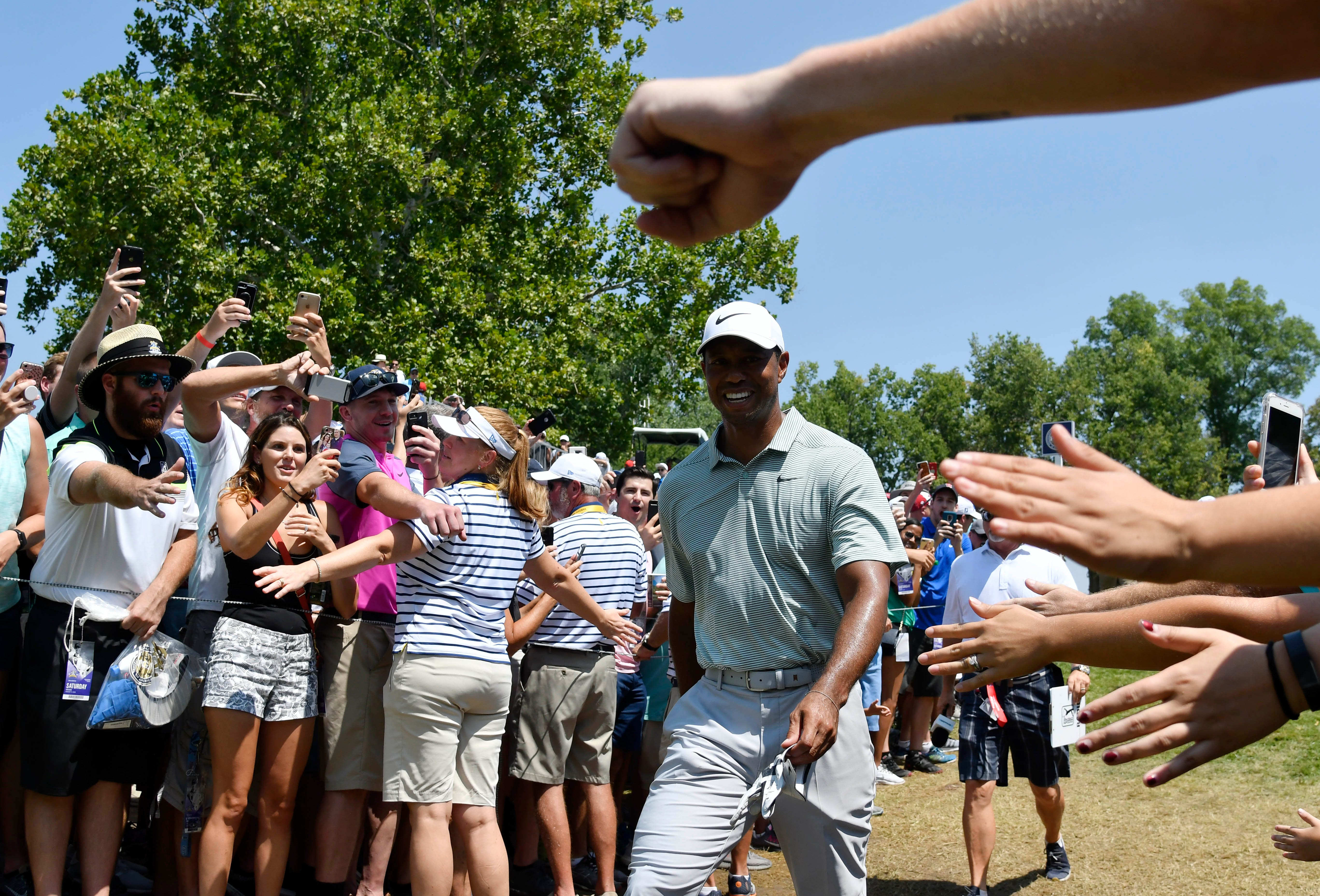 the tiger woods effect revs up pga championship fans to a