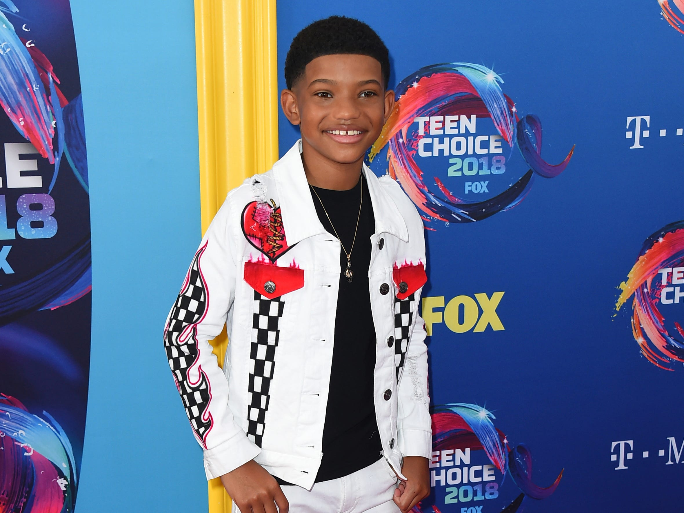 Lonnie Chavis arrives at the Teen Choice Awards at The Forum on Sunday, Aug. 12, 2018, in Inglewood, Calif. (Photo by Jordan Strauss/Invision/AP) ORG XMIT: CAPM118
