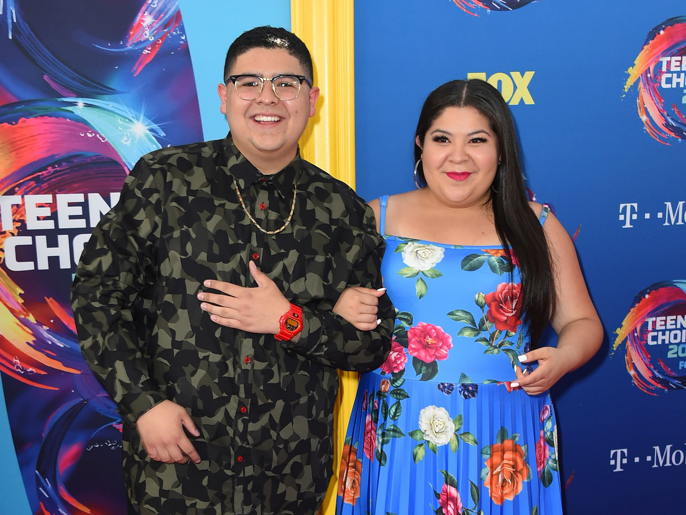 Rico Rodriguez, left, and Raini Rodriguez arrive at the Teen Choice Awards at The Forum on Sunday, Aug. 12, 2018, in Inglewood, Calif. (Photo by Jordan Strauss/Invision/AP) ORG XMIT: CAPM120