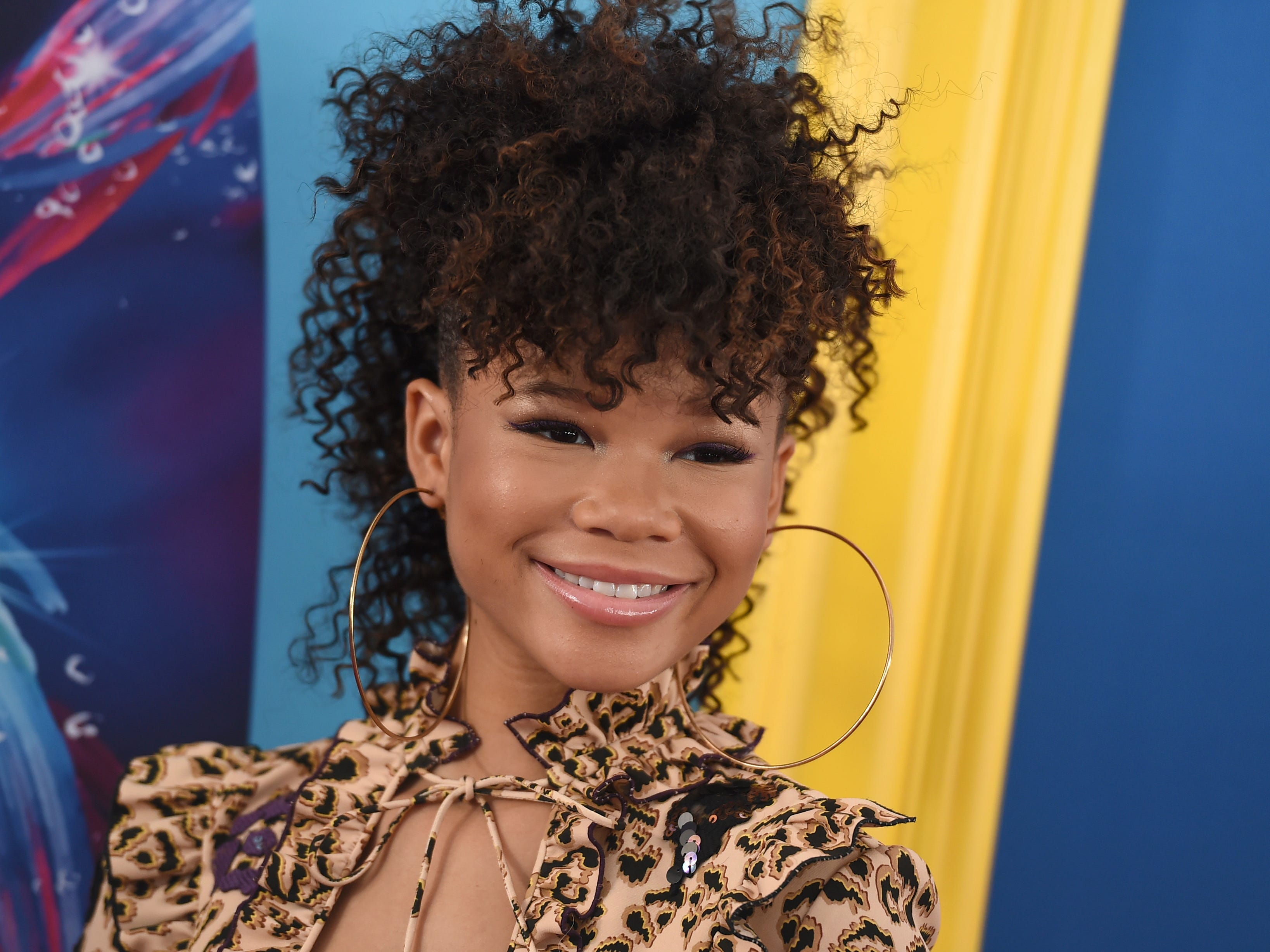 Storm Reid arrives at the Teen Choice Awards at The Forum on Sunday, Aug. 12, 2018, in Inglewood, Calif. (Photo by Jordan Strauss/Invision/AP) ORG XMIT: CAPM115