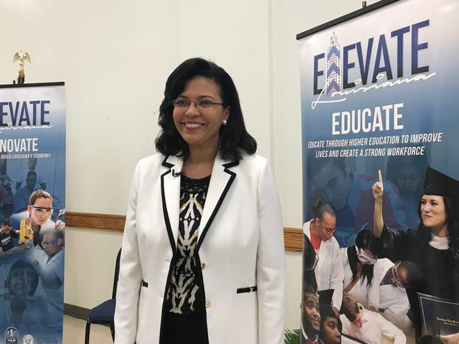 Louisiana's new Commissioner of Higher Education Kim Hunter Reed led a stakeholder exchange at Louisiana State University of Alexandria Tuesday.