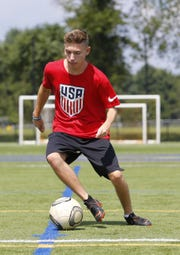 Jake Kaplan, an 18-year-old Marlboro resident with cerebral palsy who plays on the U.S. Paralympic soccer team.